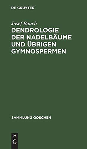 9783110061130: Dendrologie Der Nadelb Ume Und Brigen Gymnospermen: Coniferophytina Und Cycadophytina (Sammlung Goschen ; 2603) (German Edition)