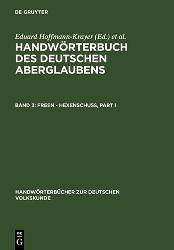 Freen - Hexenschuß: Hanns Bächtold-Stäubli