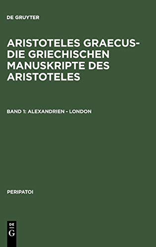 9783110067323: Alexandrien - London (Peripatoi)