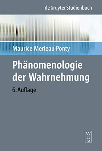 9783110068849: Phänomenologie der Wahrnehmung (Phanomenologisch-Psychologische Forschungen)