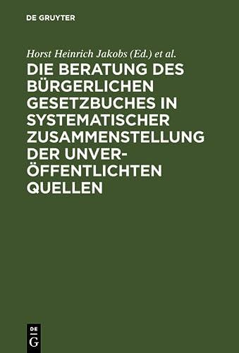 9783110074963: Materialien zur Entstehungsgeschichte des BGB: Einführung, Biographien, Materialien