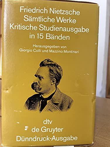 9783110081176: Samtliche Werke Kritische Studuenausgabe