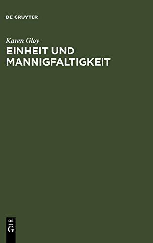 9783110084184: Einheit und Mannigfaltigkeit (German Edition)
