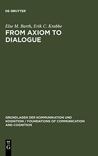 9783110084894: From Axiom to Dialogue: A Philosophical Study of Logics and Argumentation: Philosophical Study of Logic and Argumentation (Grundlagen der ... of Communication and Cognition)