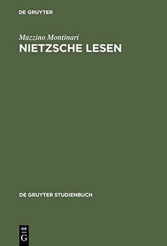 9783110086676: Nietzsche Lesen (de Gruyter Studienbuch) (German Edition)