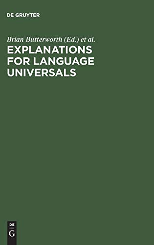 9783110097979: Explanations for Language Universals