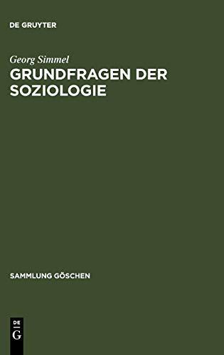9783110102390: Grundfragen der Soziologie (Sammlung G Schen)