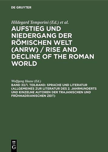 33/1: Sprache und Literatur (Allgemeines zur Literatur: Haase, Wolfgang; Haase,