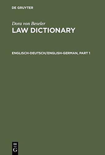 9783110104295: Englisch-Deutsch/English-German