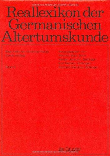 Reallexikon Der Germanischen Altertumskunde: Donar-Porr-Einbaum: Hoops, Johannes/ Beck,