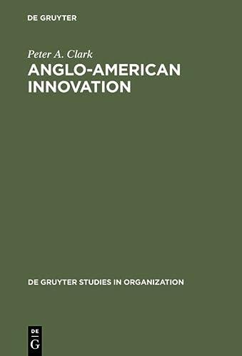 9783110105728: Anglo-American Innovation (De Gruyter Studies in Organization, 9)