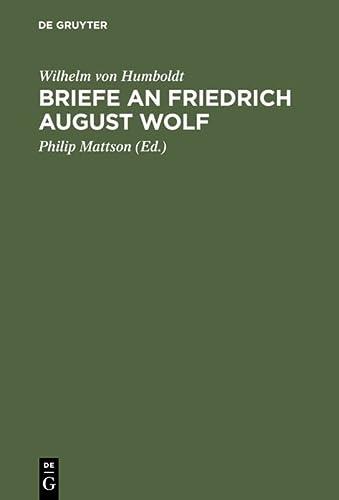 9783110109252: Briefe an Friedrich August Wolf