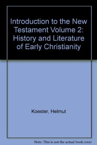 9783110109818: Introduction to the New Testament Volume 2: History and Literature of Early Christianity