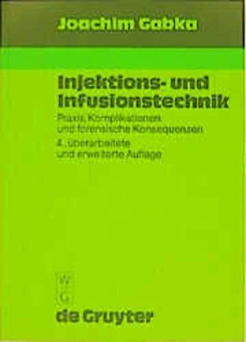 9783110110005: Injektions- und Infusionstechnik.