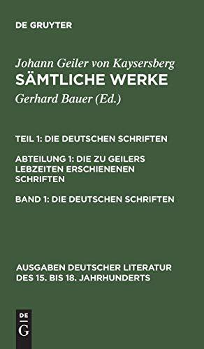 Erster Band (Ausgaben Deutscher Literatur Des 15. Bis 18. Jahrhunderts)