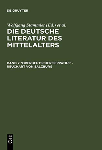 9783110115826: 'Oberdeutscher Servatius' - Reuchart von Salzburg