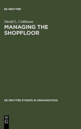 9783110122572: Managing the Shopfloor (Tierreich,)
