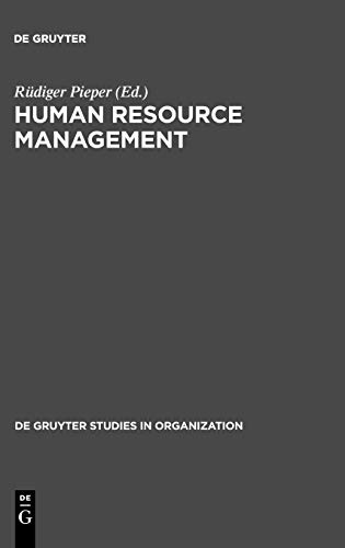 9783110125733: Human Resource Management: An International Comparison (De Gruyter Studies in Organization)