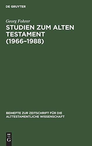 9783110128192: Studien zum Alten Testament (1966-1988) (Beihefte Zur Zeitschrift Fur Die Alttestamentliche Wissenschaft, Band 196)