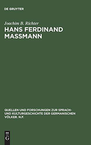 9783110129106: Hans Ferdinand Ma�mann: Altdeutscher Patriotismus im 19. Jahrhundert (Quellen Und Forschungen Zur Sprach-Und Kulturgeschichte Der Germanischen Volker, Nf)