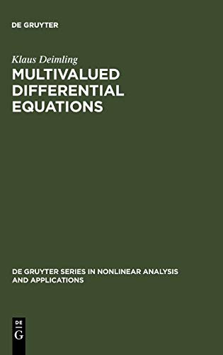 9783110132120: Multivalued Differential Equations (Topics in English Linguistics)