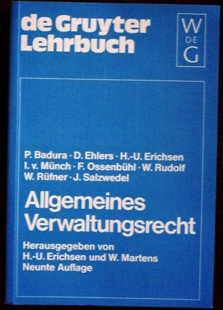 9783110132373: Allgemeines Verwaltungsrecht (De Gruyter Lehrbuch)
