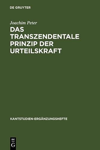 Das Transzendentale Prinzip Der Urteilskraft: Eine Untersuchung Zur Funktion Und Struktur Der ...