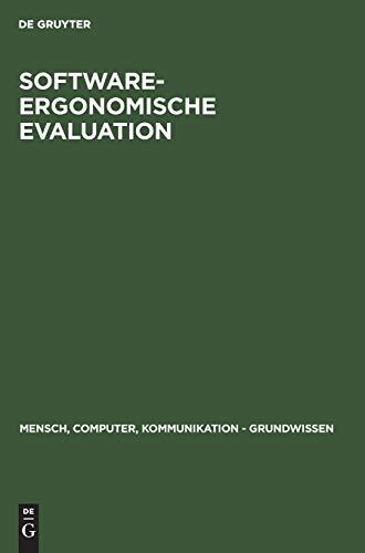 9783110135060: Software-Ergonomische Evaluation: Der Leitfaden Evadis II (Mensch-Computer-Kommunikation, Band 5)