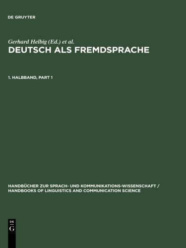 9783110135954: Deutsch Als Fremdsprache (KRUMM) 1.TLBD HSK 19.1: Volume 1 (Handbooks of linguistics and communication science)