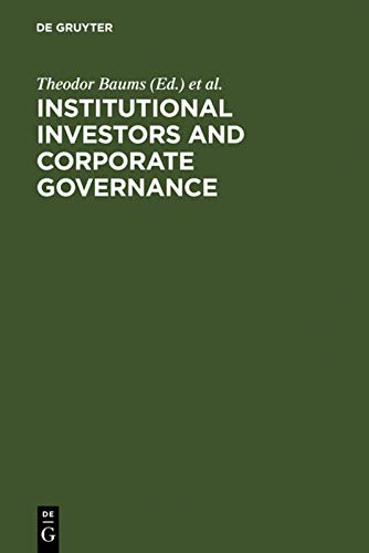9783110136432: Institutional Investors and Corporate Governance