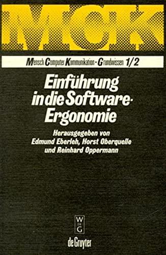 9783110138146: Einführung in die Software-Ergonomie