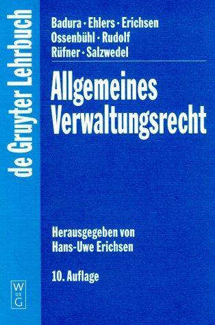9783110140385: Allgemeines Verwaltungsrecht (DE GRUYTER LEHRBUCH)