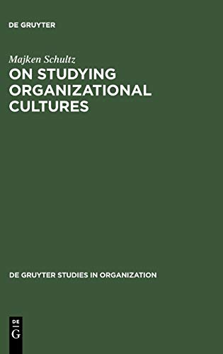 9783110141375: On Studying Organizational Cultures: Diagnosis and Understanding (de Gruyter Series In Nonlinear Analysis And Applications)
