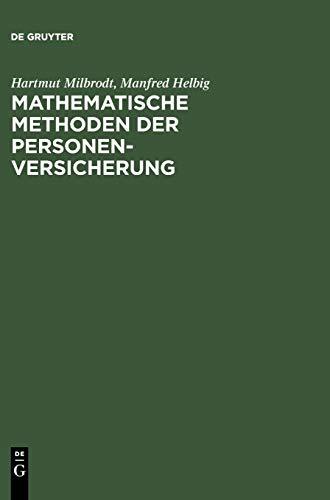 9783110142266: Mathematische Methoden Der Personenversicherung