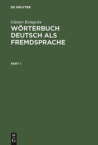 9783110146394: De Gruyter Woerterbuch Deutsch Als Fremdsprache (English and German Edition)