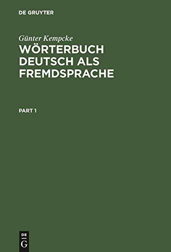 9783110146394: De Gruyter Woerterbuch Deutsch Als Fremdsprache (English and German Edition)