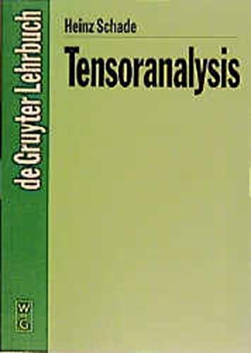 9783110147407: Tensoranalysis