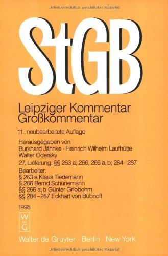 9783110148497: Strafgesetzbuch Leipziger Kommentar: 11., Neubearbeitete Auflage (Grobkommentare Der Praxis) (German Edition)