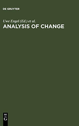 9783110149364: Analysis of Change