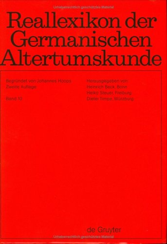 Reallexikon Der Germanischen Altertumskunde (German Edition): Johannes Hoops, Heinrich