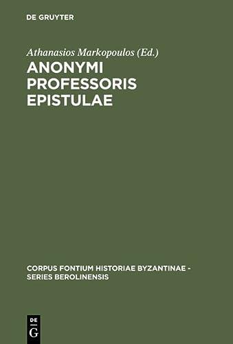 9783110156119: Anonymi Professories Epistulae