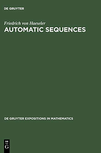 9783110156294: Automatic Sequences (De Gruyter Expositions in Mathematics)