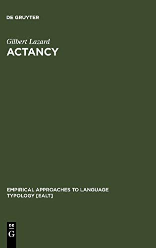 9783110156706: Actancy (Empirical Approaches to Language Typology)