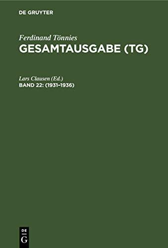 9783110158540: 1932-1936: Geist der Neuzeit. Schriften. Rezensionen: 22