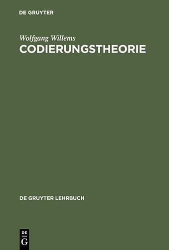 9783110158748: Codierungstheorie (de Gruyter Lehrbuch) (German Edition)
