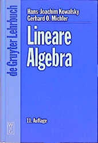 9783110161861: Lineare Algerbra: 11., Uberarbeitete Auflage (DE GRUYTER LEHRBUCH)