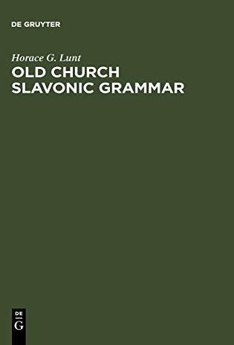 9783110162844: Old Church Slavonic Grammar