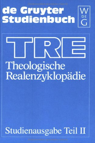 9783110162950: Theolgische Realenzyklopadie: Vols 18-27 (De Gruyter Studienbuch)
