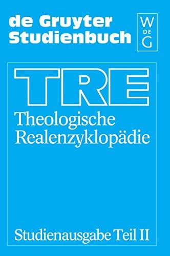 9783110162950: Theologische Realenzyklopadie: Studienausgabe Teil II With Register (DE GRUYTER STUDIENBUCH) (German Edition)