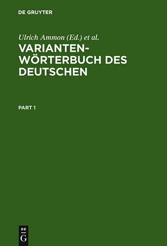 9783110165753: Variantenwörterbuch des Deutschen (German Edition)